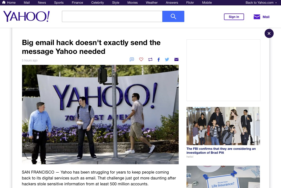 Yahoo Breach.