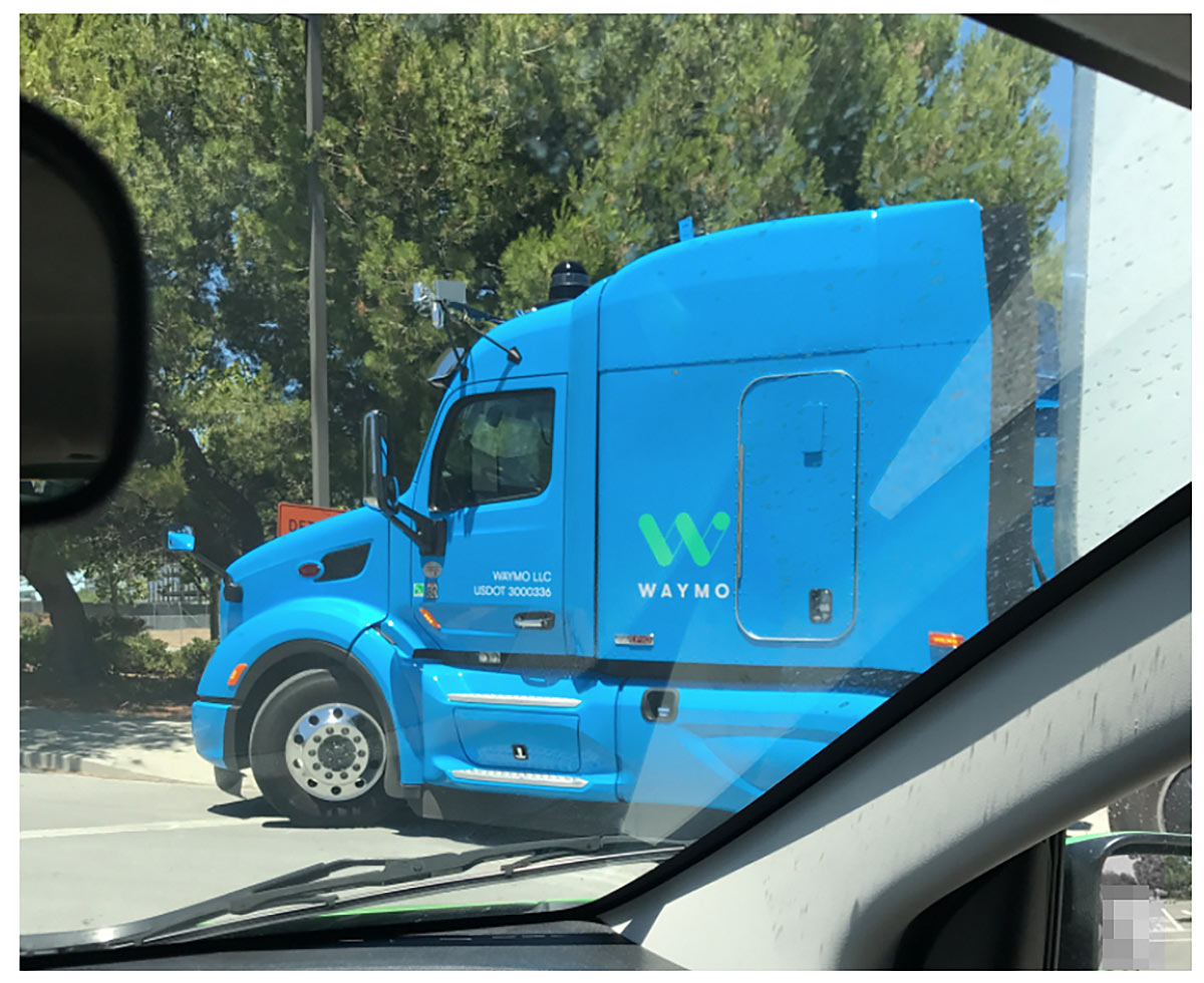Waymo's self-driving truck.