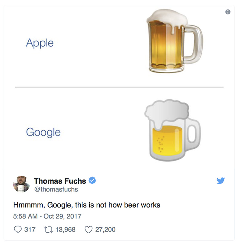 Hmmmm, Google, this is not how beer works.