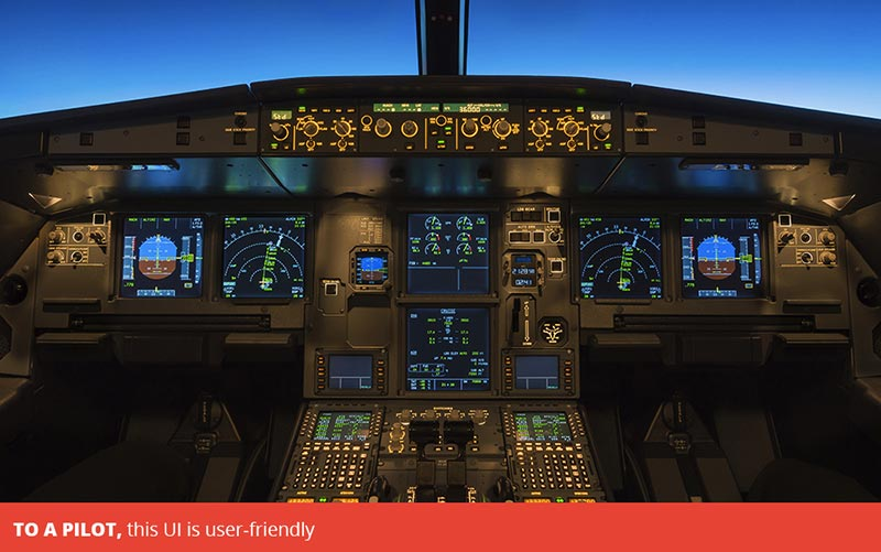To a pilot, this UI is user-friendly