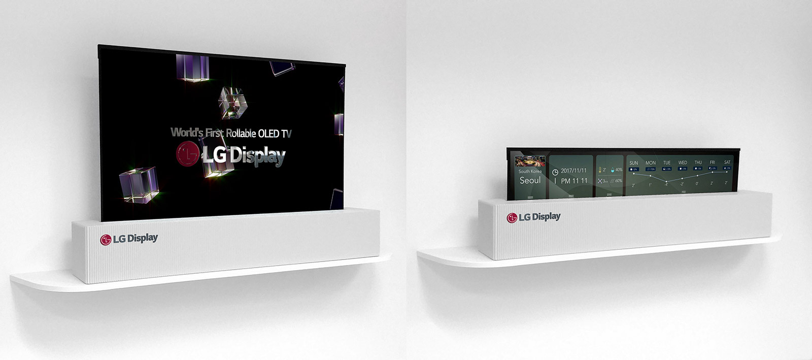 LG rollable OLED display.
