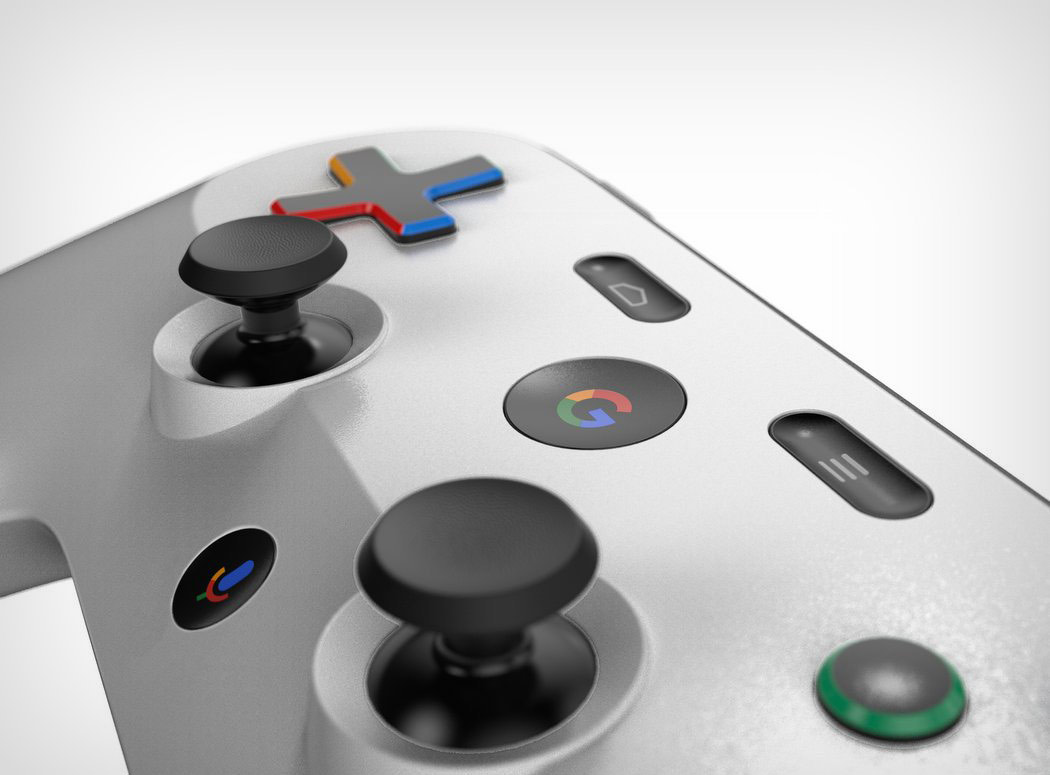 Google gaming console controller.