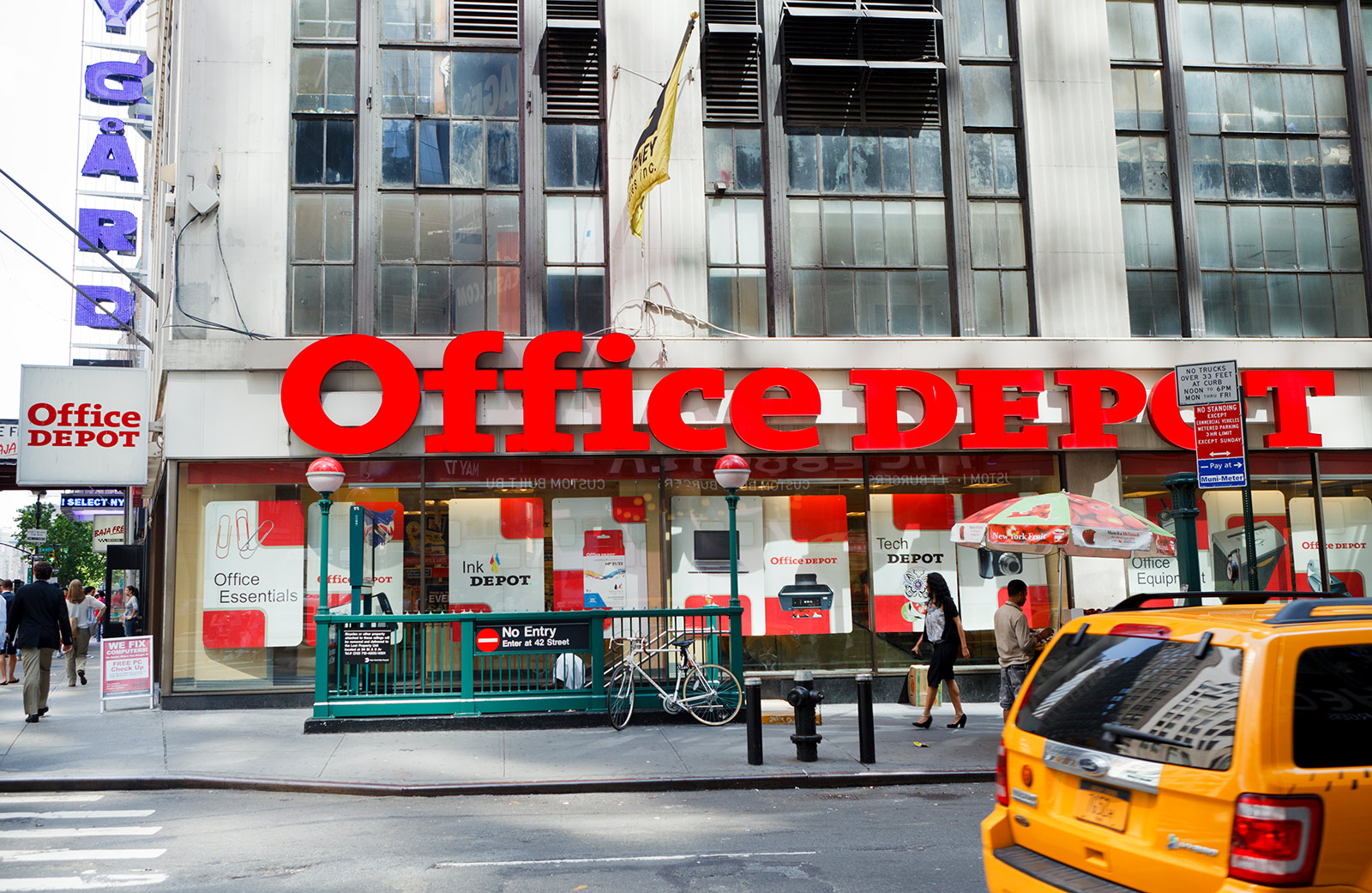 Office Depot in Midtown Manhattan, NYC.