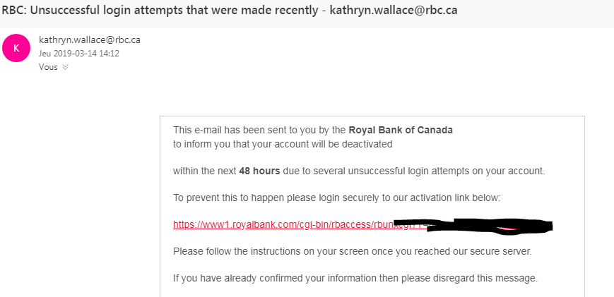 Phishing mail
