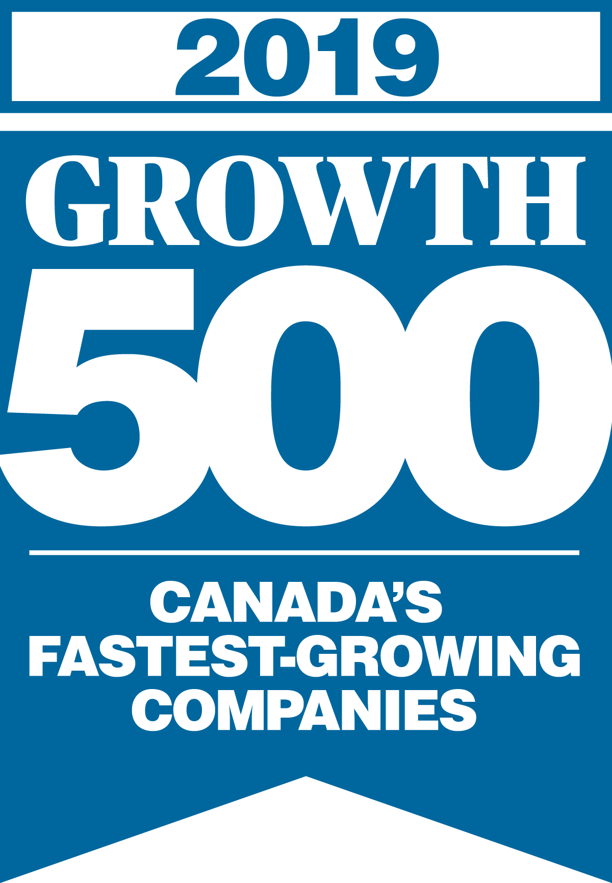 Growth 500, 2019 Logo.