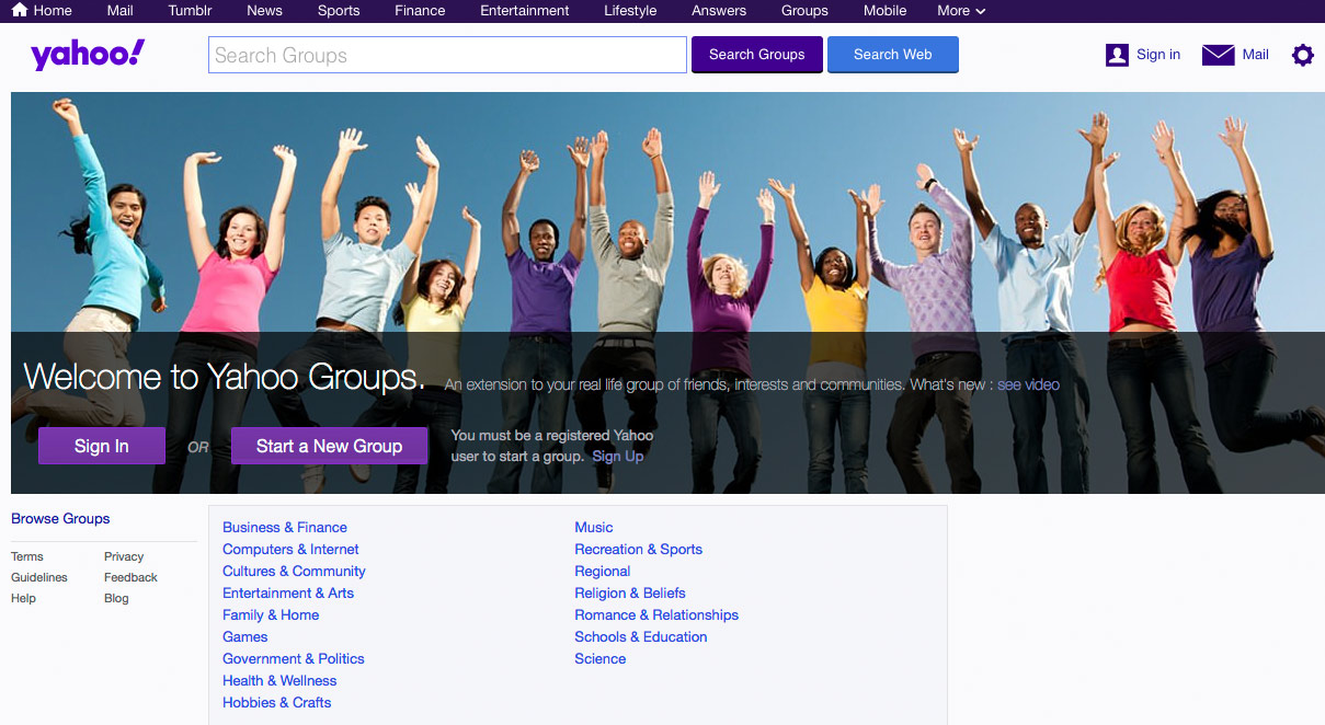 Yahoo Groups.