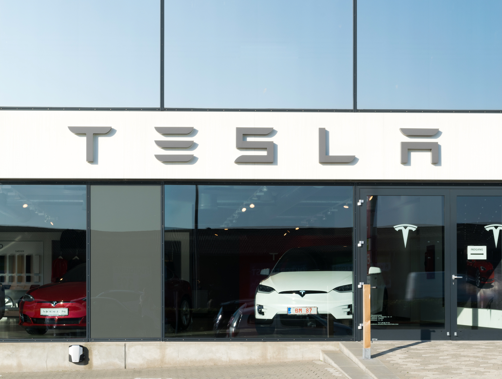 Tesla car dealer.