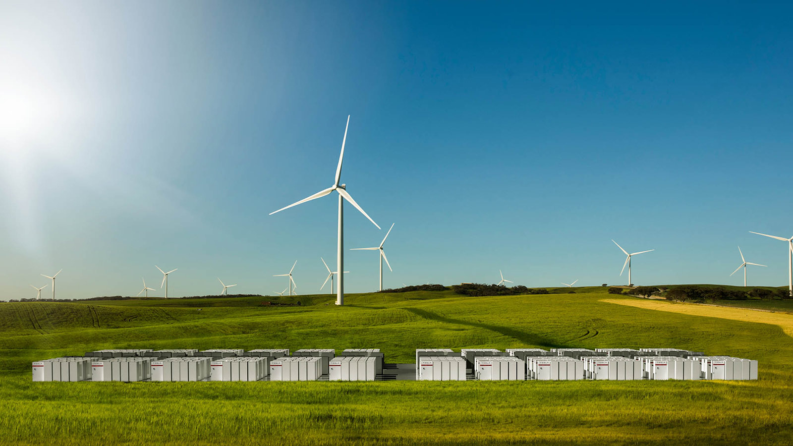 Tesla Powerpack in Australia.