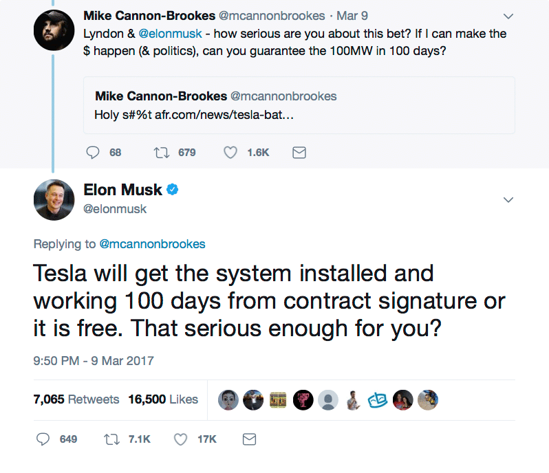 Tesla will get the system installed and working 100 days from contract signature or it is free.