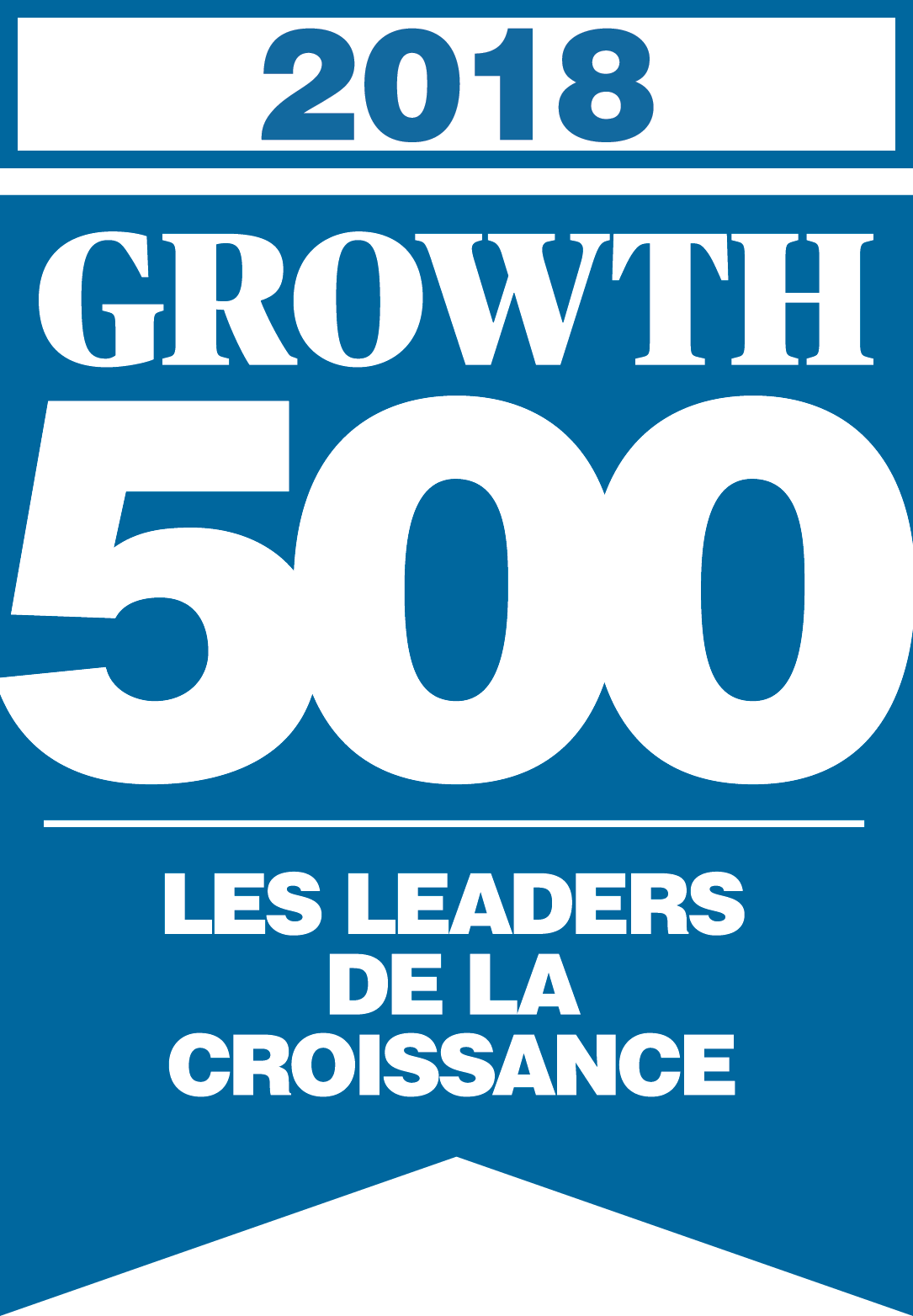 Logo Growth 500, 2018.