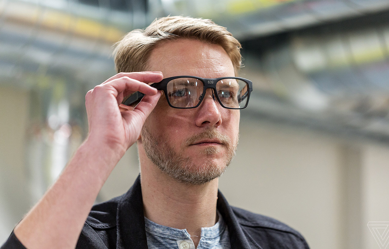 Vaunt smart glasses.