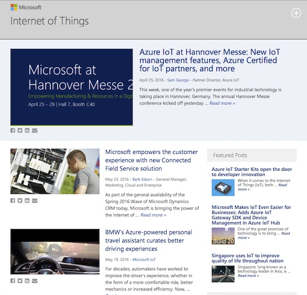 Microsoft: Internet of Things