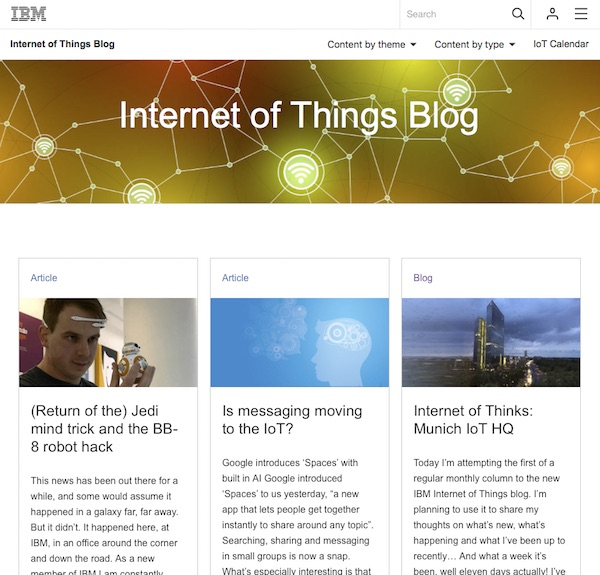 IBM Internet of Things Blog