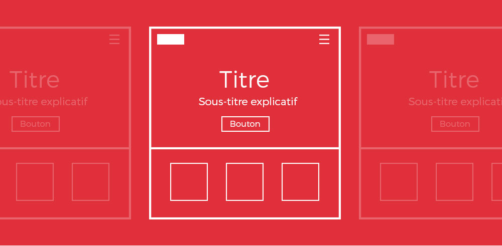 Website wireframe.