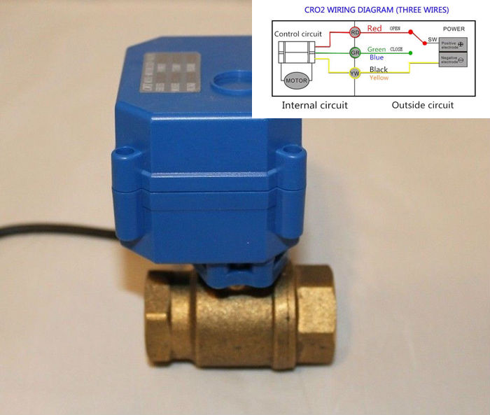 Motorized Ball Valve - CR02 wiring.